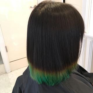ハイトーン ガーリー セミロング ダブルカラー ヘアスタイルや髪型の写真・画像