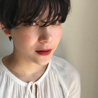 黒髪 ショート パーマ 透明感カラー ヘアスタイルや髪型の写真・画像 ヘアスタイルや髪型の写真・画像