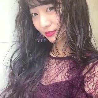 外国人風カラー ハイライト 透明感 パープル ヘアスタイルや髪型の写真・画像