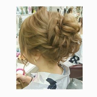 結婚式 夏 色気 ミディアム ヘアスタイルや髪型の写真・画像