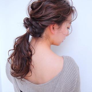 ヘアアレンジ フェミニン ロング ふわふわヘアアレンジ ヘアスタイルや髪型の写真・画像