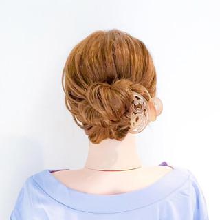 フェミニン 時短 ロング 簡単ヘアアレンジ ヘアスタイルや髪型の写真・画像