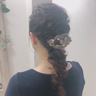 大人可愛い ヘアアレンジ 結婚式ヘアアレンジ エレガント ヘアスタイルや髪型の写真・画像