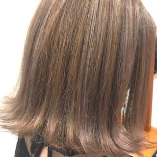 ボブ ミルクティー 外国人風カラー バレイヤージュ ヘアスタイルや髪型の写真・画像