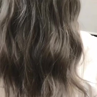 ブリーチ グレージュ 外国人風カラー 透明感 ヘアスタイルや髪型の写真・画像