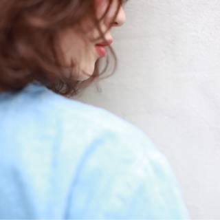 外国人風 大人かわいい マルサラ ストリート ヘアスタイルや髪型の写真・画像
