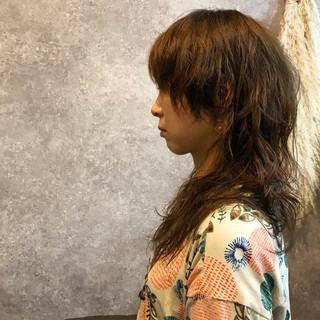 ヘアアレンジ 前髪あり ロング パーマ ヘアスタイルや髪型の写真・画像
