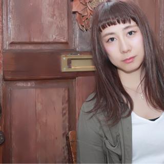 大人女子 ミディアム ストリート パープル ヘアスタイルや髪型の写真・画像