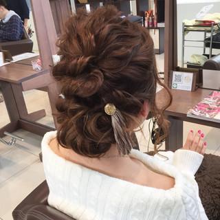 編み込み 結婚式 ロング ヘアアレンジ ヘアスタイルや髪型の写真・画像 ヘアスタイルや髪型の写真・画像