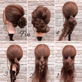 簡単ヘアアレンジ 女子会 大人女子 ヘアアレンジ ヘアスタイルや髪型の写真・画像