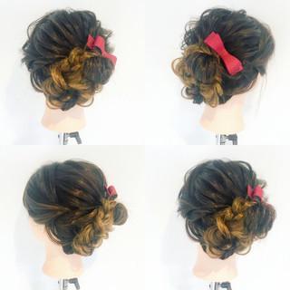 セミロング 結婚式 ヘアアレンジ フェミニン ヘアスタイルや髪型の写真・画像 ヘアスタイルや髪型の写真・画像