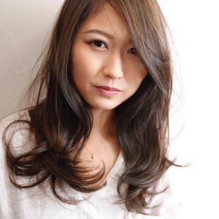 セミロング かわいい 抜け感 ナチュラル ヘアスタイルや髪型の写真・画像