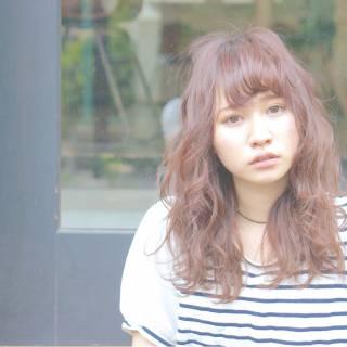 ゆるふわ 秋 セミロング モテ髪 ヘアスタイルや髪型の写真・画像 ヘアスタイルや髪型の写真・画像
