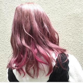 外国人風 ピンク ガーリー 大人かわいい ヘアスタイルや髪型の写真・画像
