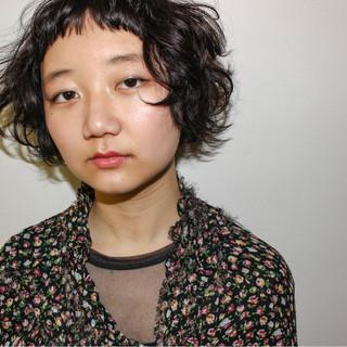 ニュアンス ストリート ナチュラル パーマ ヘアスタイルや髪型の写真・画像