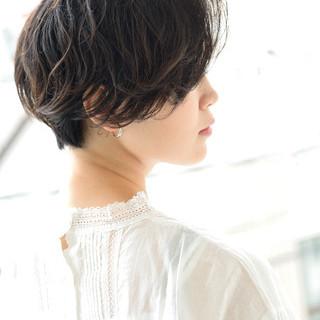 ショートボブ 黒髪 ボブ パーマ ヘアスタイルや髪型の写真・画像 ヘアスタイルや髪型の写真・画像
