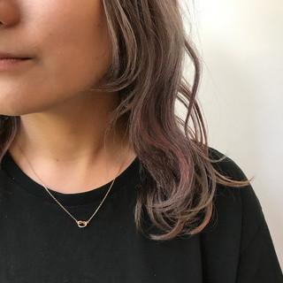 ブリーチ ミディアム ストリート ピンク ヘアスタイルや髪型の写真・画像 ヘアスタイルや髪型の写真・画像