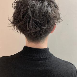 フェミニン メンズショート ショート メンズマッシュ ヘアスタイルや髪型の写真・画像