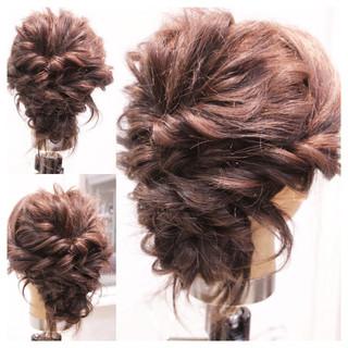 ヘアアレンジ フェミニン セミロング 大人かわいい ヘアスタイルや髪型の写真・画像
