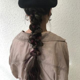 セミロング インナーカラー ハロウィン ヘアアレンジ ヘアスタイルや髪型の写真・画像 ヘアスタイルや髪型の写真・画像