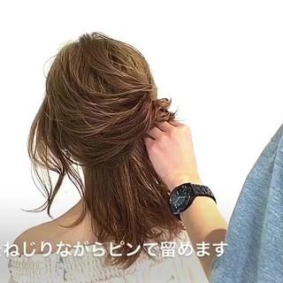 セミロング ショート オフィス ナチュラル ヘアスタイルや髪型の写真・画像