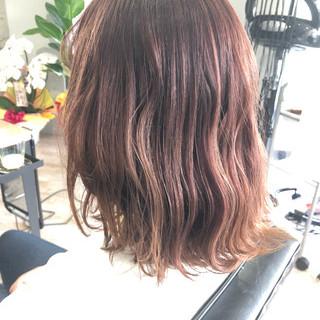 ボブ 透明感カラー ダブルカラー フェミニン ヘアスタイルや髪型の写真・画像