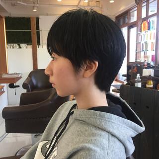 ナチュラル ショートボブ ショート デート ヘアスタイルや髪型の写真・画像