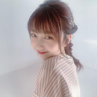 フェミニン 簡単ヘアアレンジ デート ナチュラル可愛い ヘアスタイルや髪型の写真・画像