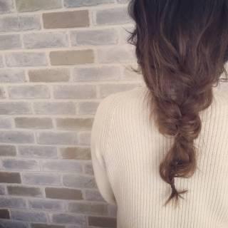 アンニュイ ルーズ まとめ髪 編み込み ヘアスタイルや髪型の写真・画像