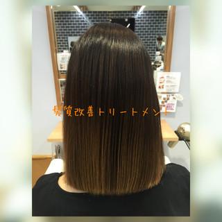 髪質改善トリートメント モテ髪 トリートメント ストレート ヘアスタイルや髪型の写真・画像