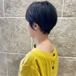 ショート 大人女子 ナチュラル ショートボブ ヘアスタイルや髪型の写真・画像