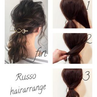 結婚式 デート ヘアアレンジ ミディアム ヘアスタイルや髪型の写真・画像