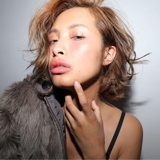 ブラウン 大人かわいい ショート 外国人風 ヘアスタイルや髪型の写真・画像
