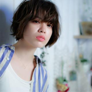 かわいい 色気 ミディアム 外ハネ ヘアスタイルや髪型の写真・画像