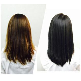 ブルージュ ネイビー 艶髪 アッシュグレージュ ヘアスタイルや髪型の写真・画像