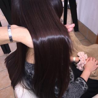 暗髪 コンサバ ロング 艶髪 ヘアスタイルや髪型の写真・画像