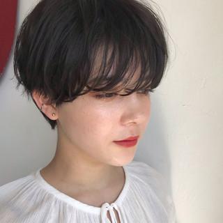 ダークカラー ダークアッシュ ベリーショート ナチュラル ヘアスタイルや髪型の写真・画像 ヘアスタイルや髪型の写真・画像