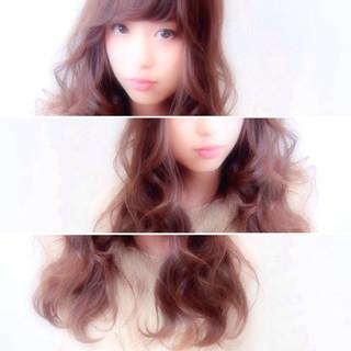 ロング 愛され モテ髪 波ウェーブ ヘアスタイルや髪型の写真・画像