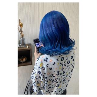 透明感カラー 切りっぱなしボブ セミロング 大人かわいい ヘアスタイルや髪型の写真・画像