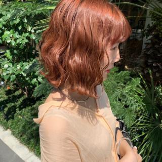 ガーリー ハイトーンカラー 韓国ヘア ヘアカラー ヘアスタイルや髪型の写真・画像