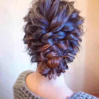 エレガント ヘアアレンジ 成人式 シニヨン ヘアスタイルや髪型の写真・画像