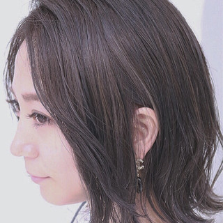 ボブ ブルージュ グラデーションカラー モード ヘアスタイルや髪型の写真・画像