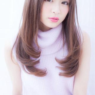 ストレート ロブ かわいい ゆるふわ ヘアスタイルや髪型の写真・画像 ヘアスタイルや髪型の写真・画像