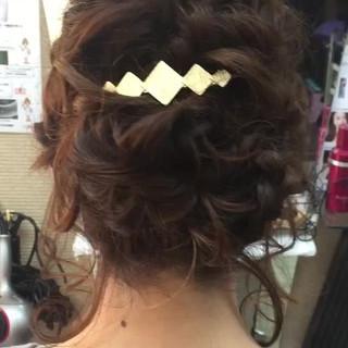 ミディアム 編み込み 結婚式 ヘアアレンジ ヘアスタイルや髪型の写真・画像 ヘアスタイルや髪型の写真・画像