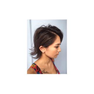 アッシュ 外国人風 ボブ モード ヘアスタイルや髪型の写真・画像
