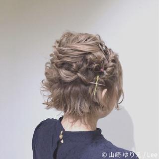 ヘアアレンジ フェミニン ボブ ミルクティー ヘアスタイルや髪型の写真・画像 ヘアスタイルや髪型の写真・画像
