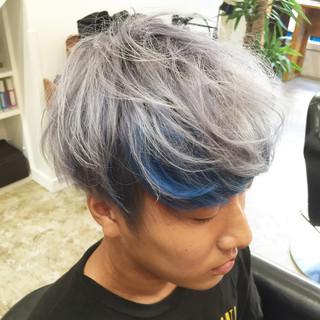 メンズ ショート ダブルカラー 個性的 ヘアスタイルや髪型の写真・画像 ヘアスタイルや髪型の写真・画像