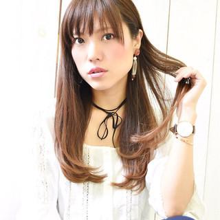 透明感 ウェットヘア 大人女子 ロング ヘアスタイルや髪型の写真・画像