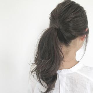 簡単ヘアアレンジ ヘアアレンジ こなれ感 セミロング ヘアスタイルや髪型の写真・画像 ヘアスタイルや髪型の写真・画像