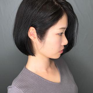 ナチュラル ショートヘア ボブ 簡単スタイリング ヘアスタイルや髪型の写真・画像